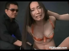 Asian Bound Toyed And Made To Suck Cock