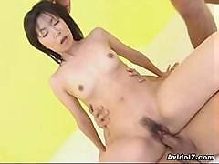 Cute Japanese Teen Gets Her Tiight Pussy Fucked While Sucking Cock