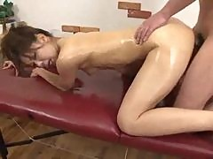 Sex and toys with Japanese massage girl