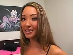 Asa Akira fucked in bed by big cock