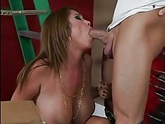 Sexy momma Kianna Dior is sucking her mans balls with so muc...