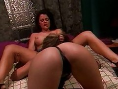 Miko Lee and her friend caring for a dick