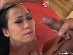 Niya Yu mouth fucked and facialized