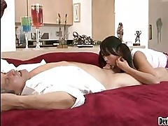 Yuki Mori sucking the cock of her step dad
