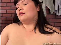 Beautiful big tits asian BBW