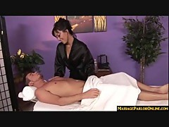 Asian massage turns into cock sucking