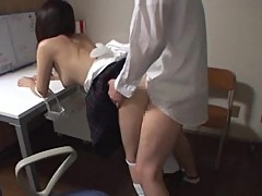 Schoolgirl fucks her teacher to pass the grades