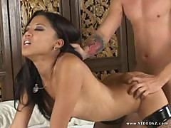 Lily Thai in Dominatrix Outfit Fucks so Hard this Guy Came Inside her