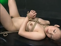 Roped Asian Fucked And Creampied