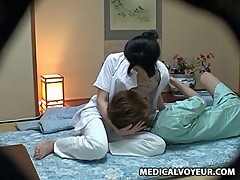 Hotel masseuse fucked by client