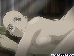 Japanese bald hentai girl hot riding wet cock