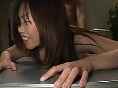 Asian secretary fucked on the desk