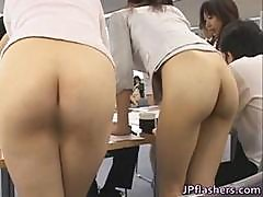 Pretty Asian Secretaries Are Working