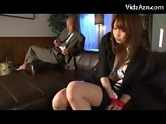 Secretary In Costume Having Orgasm While Getting..