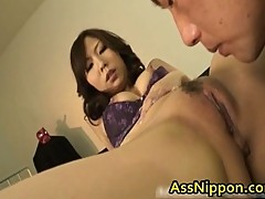 Cute Japanese pussy & ass licked