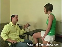 Faith got her pink fucked by her boss at vaginal cumshot