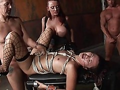 Cute asian girl loves the role of a slave girl